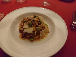イノシシとポルチーニ茸のラグーソーススパゲッティー